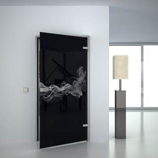 Glastür lackiert mit Lasermotiv Smoke 2 (989707935) ab 559,00 EUR von Lionidas auf glastüren-shop.com