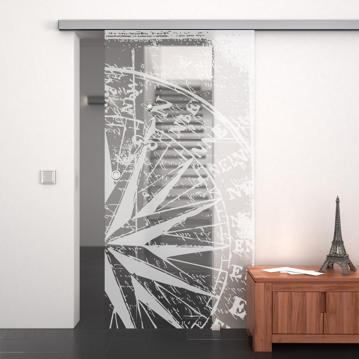 glasschiebet r gelasert mit motiv mein weg 989707987. Black Bedroom Furniture Sets. Home Design Ideas