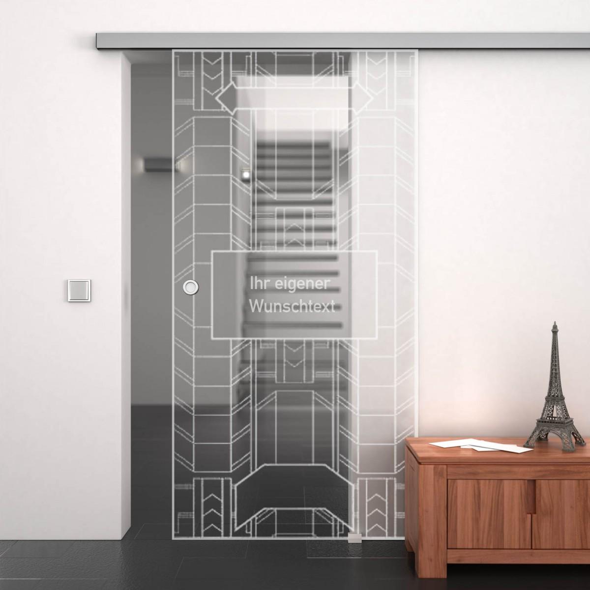glasschiebet r gelasert mit motiv metropolis 989707988. Black Bedroom Furniture Sets. Home Design Ideas