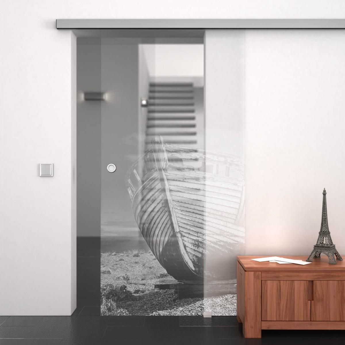 glasschiebet r gelasert mit motiv ship 989708035. Black Bedroom Furniture Sets. Home Design Ideas