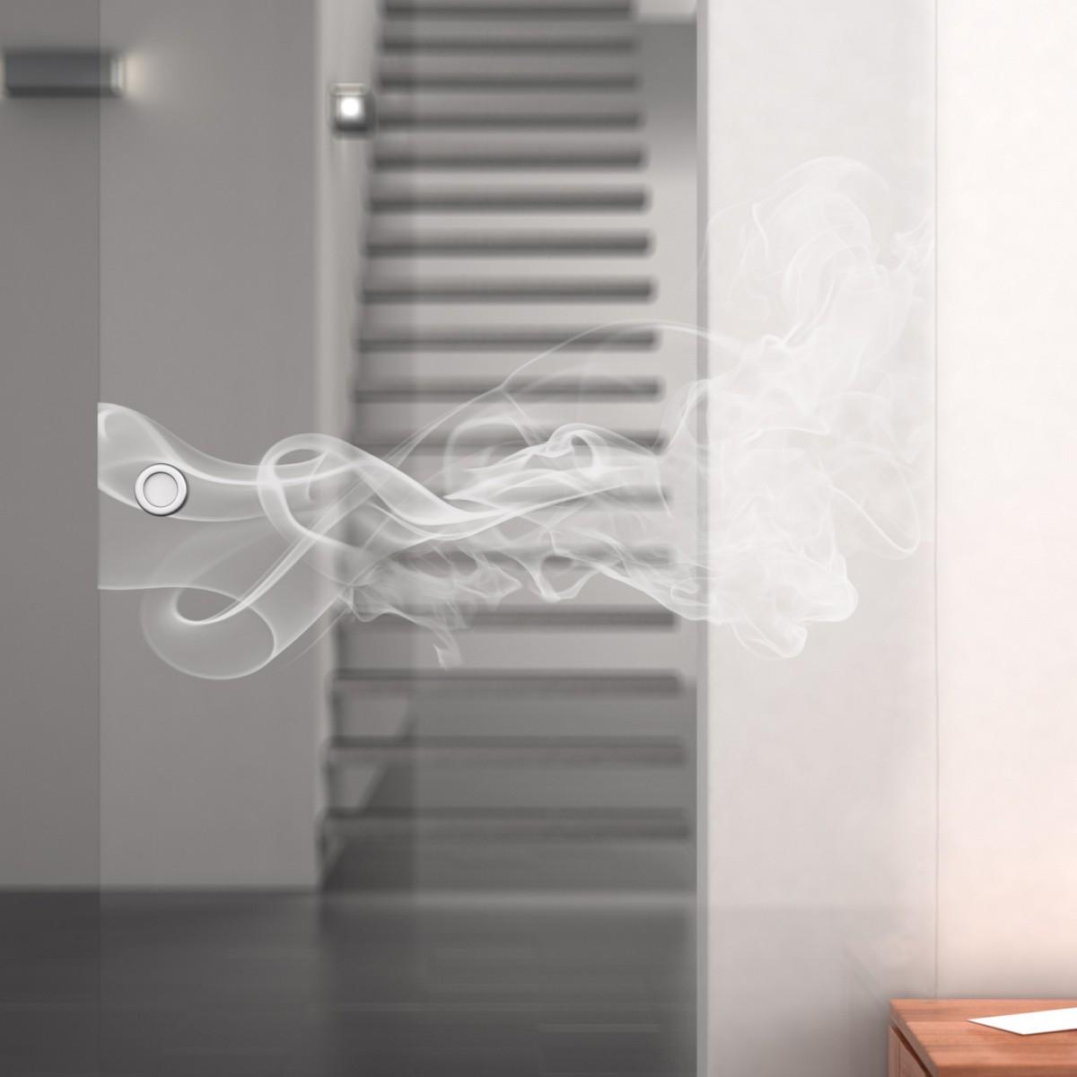 glasschiebet r gelasert mit motiv smoke 2 989708042. Black Bedroom Furniture Sets. Home Design Ideas