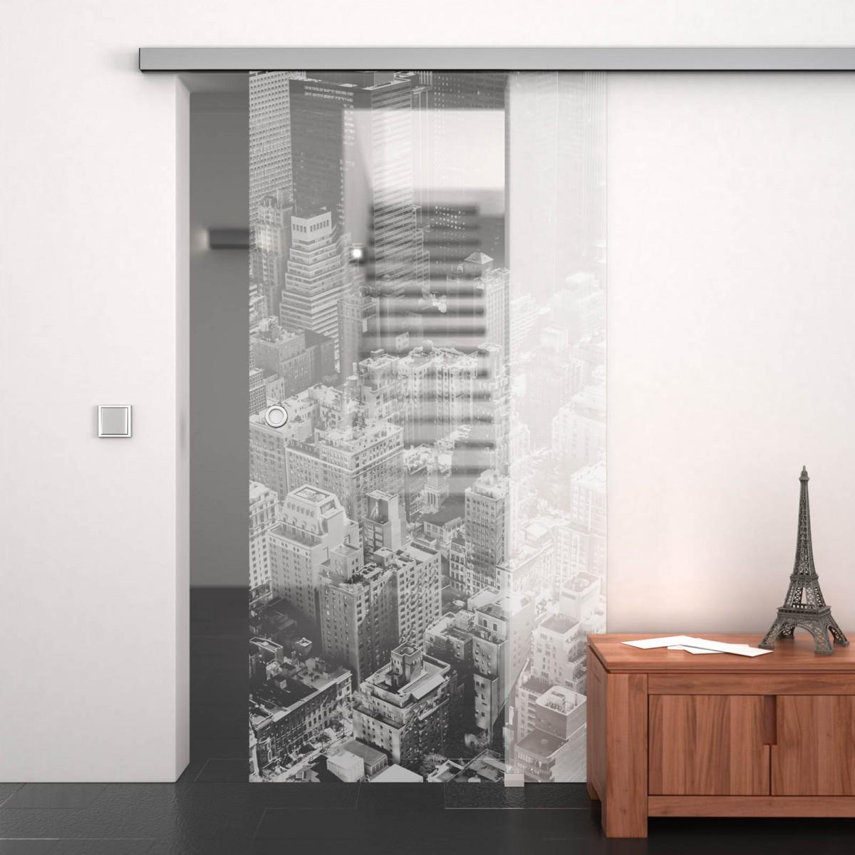 glasschiebet r gelasert mit motiv stadt 989708047. Black Bedroom Furniture Sets. Home Design Ideas