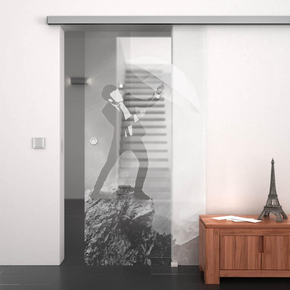 glasschiebet r gelasert mit motiv storm 989708050. Black Bedroom Furniture Sets. Home Design Ideas