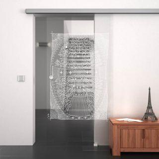 Glasschiebetür gelasert mit Motiv The Magic Bird (989708059) ab 749,00 EUR von Lionidas auf glastüren-shop.com