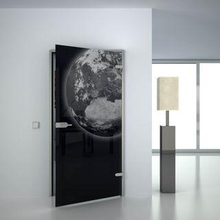 Glastür lackiert mit Lasermotiv Erde (989708500) ab 559,00 EUR von Lionidas auf glastüren-shop.com