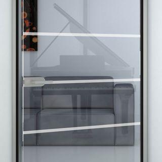 Glastür sandgestrahlt mit Motiv Ihsak – Bild 2