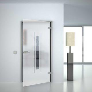 Glastür satiniert mit Motiv Tolin (989708583) ab 279,00 EUR von Lionidas auf glastüren-shop.com