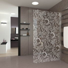 Walk In Dusche gelasert mit Motiv Art Design