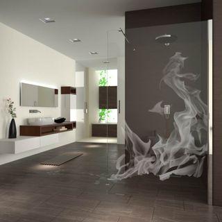 Walk In Dusche gelasert mit Motiv Flammen (989708657) ab 649,00 EUR von Lionidas auf glastüren-shop.com