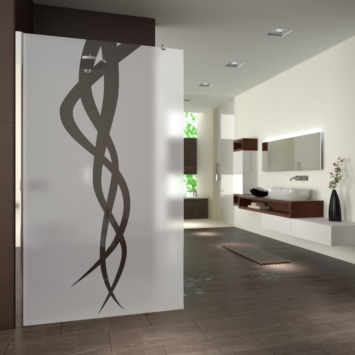 walk in dusche satiniert mit motiv tentakel 989708799. Black Bedroom Furniture Sets. Home Design Ideas