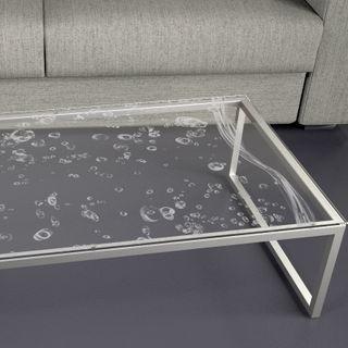 Glastischplatte gelasert mit Motiv - Bubbles – Bild 2