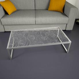 Glastischplatte gelasert mit Motiv - Muster Wellen