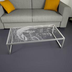 Glastischplatte gelasert mit Motiv - Venice