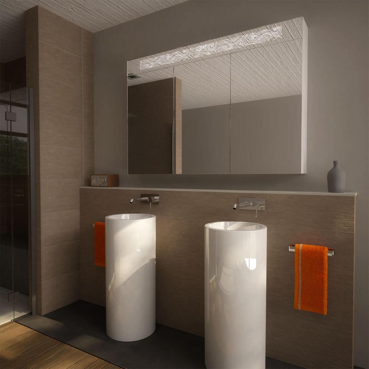 Spiegelschrank LED nach Maß mit Aluminium-Korpus - Toronto