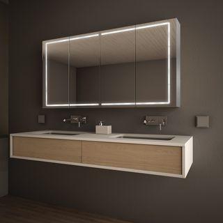 Spiegelschrank LED nach Maß Aluminium - Cleveland – Bild 1