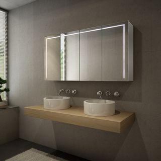 Spiegelschrank Alu nach Maß mit LED Beleuchtung -  Austin – Bild 1