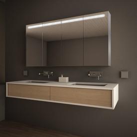LED Spiegelschrank nach Maß mit Aluminium-Korpus - Denver