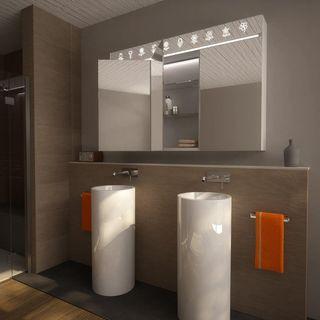 Spiegelschrank Aluminium-Korpus mit LED Beleuchtung - Torrance – Bild 2