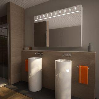 Spiegelschrank Aluminium-Korpus mit LED Beleuchtung - Torrance – Bild 1