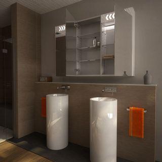 Spiegelschrank Aluminium-Korpus mit LED Beleuchtung - Stamford – Bild 2