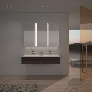Spiegelschrank Aluminium mit LED Beleuchtung - Pasadena – Bild 2