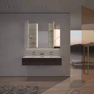 Spiegelschrank Aluminium mit LED Beleuchtung - Pasadena – Bild 3