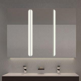 Spiegelschrank Aluminium mit LED Beleuchtung - Pasadena – Bild 1