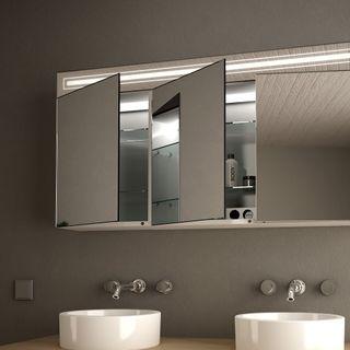 Spiegelschrank Aluminium mit LED Beleuchtung - Richmond – Bild 3