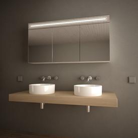 Spiegelschrank Aluminium mit LED Beleuchtung - Richmond