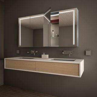 Spiegelschrank Aluminium mit LED Beleuchtung - Davenport – Bild 2