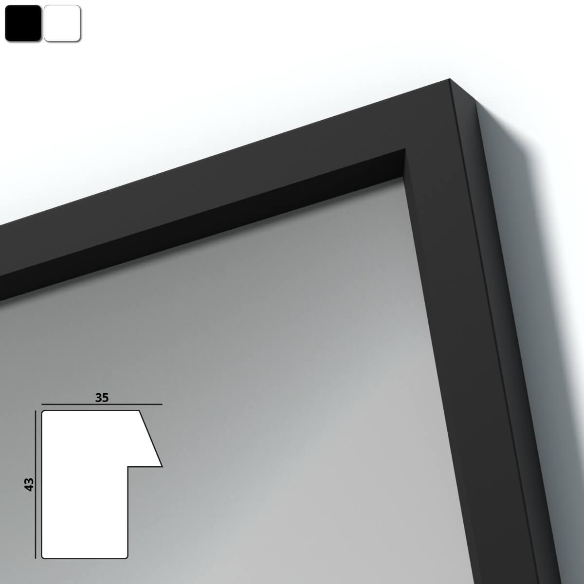spiegel mit holzrahmen nach ma elbe 989709712. Black Bedroom Furniture Sets. Home Design Ideas