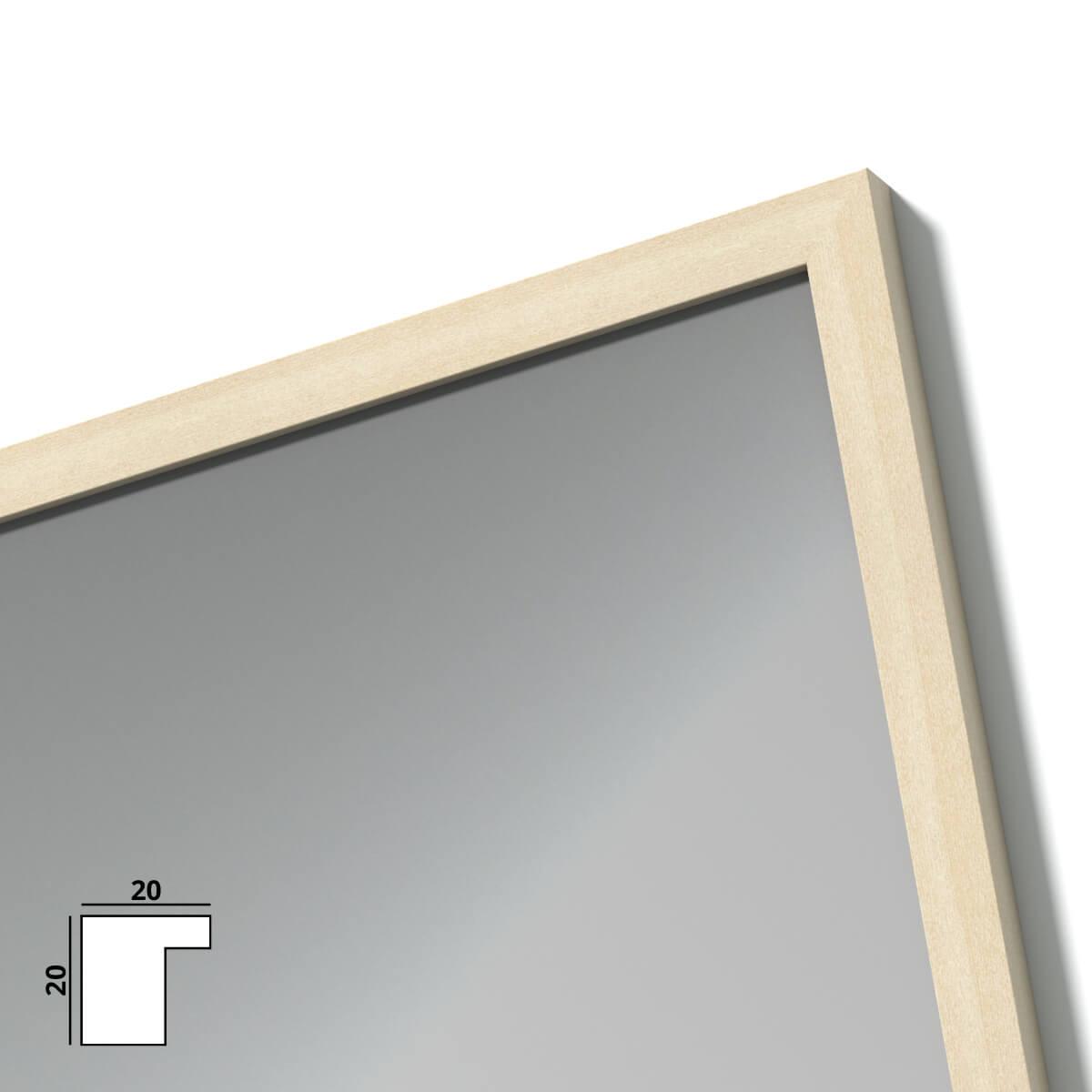 spiegel mit holzrahmen nach ma inn 989709714. Black Bedroom Furniture Sets. Home Design Ideas