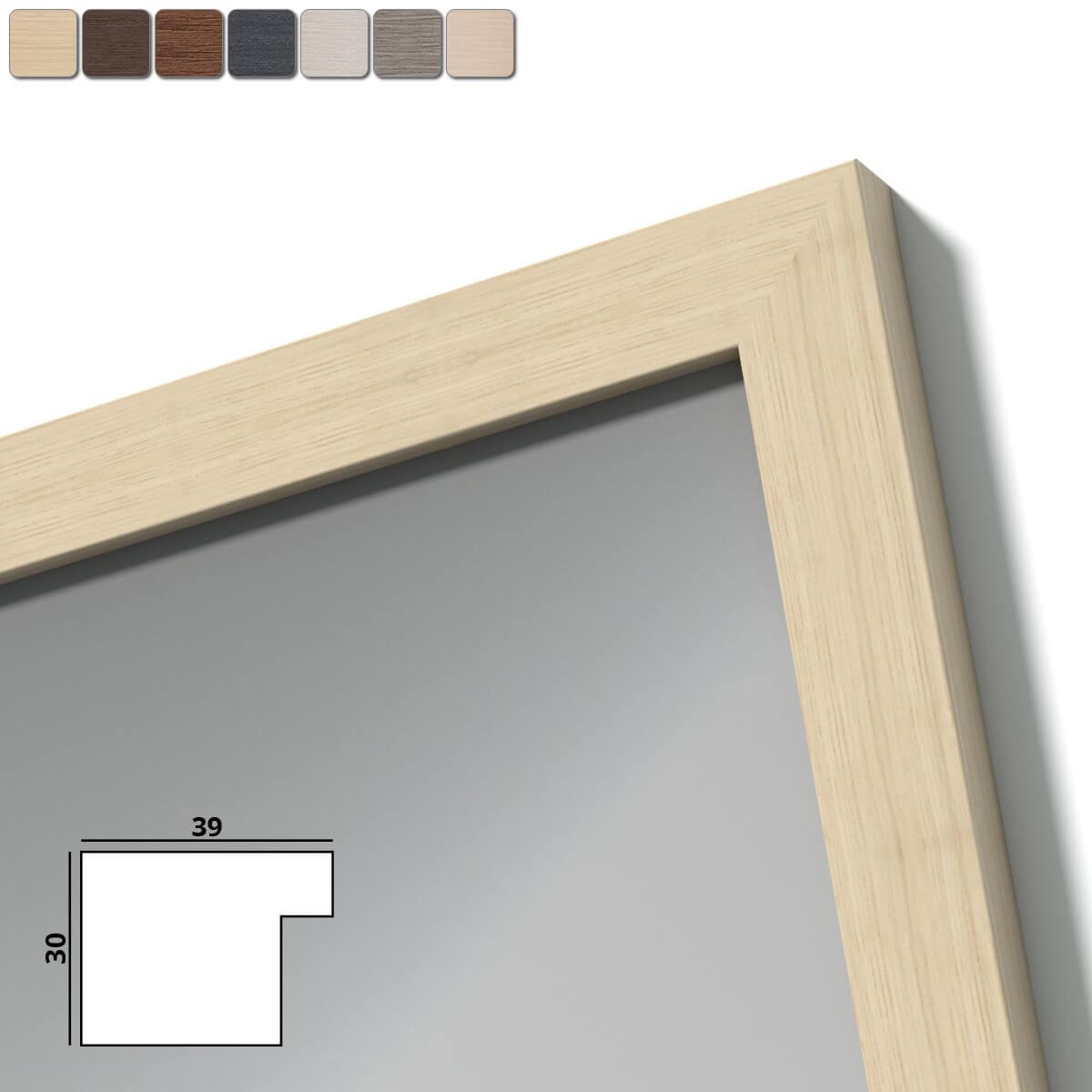 spiegel mit holzrahmen nach ma loire 989709717. Black Bedroom Furniture Sets. Home Design Ideas