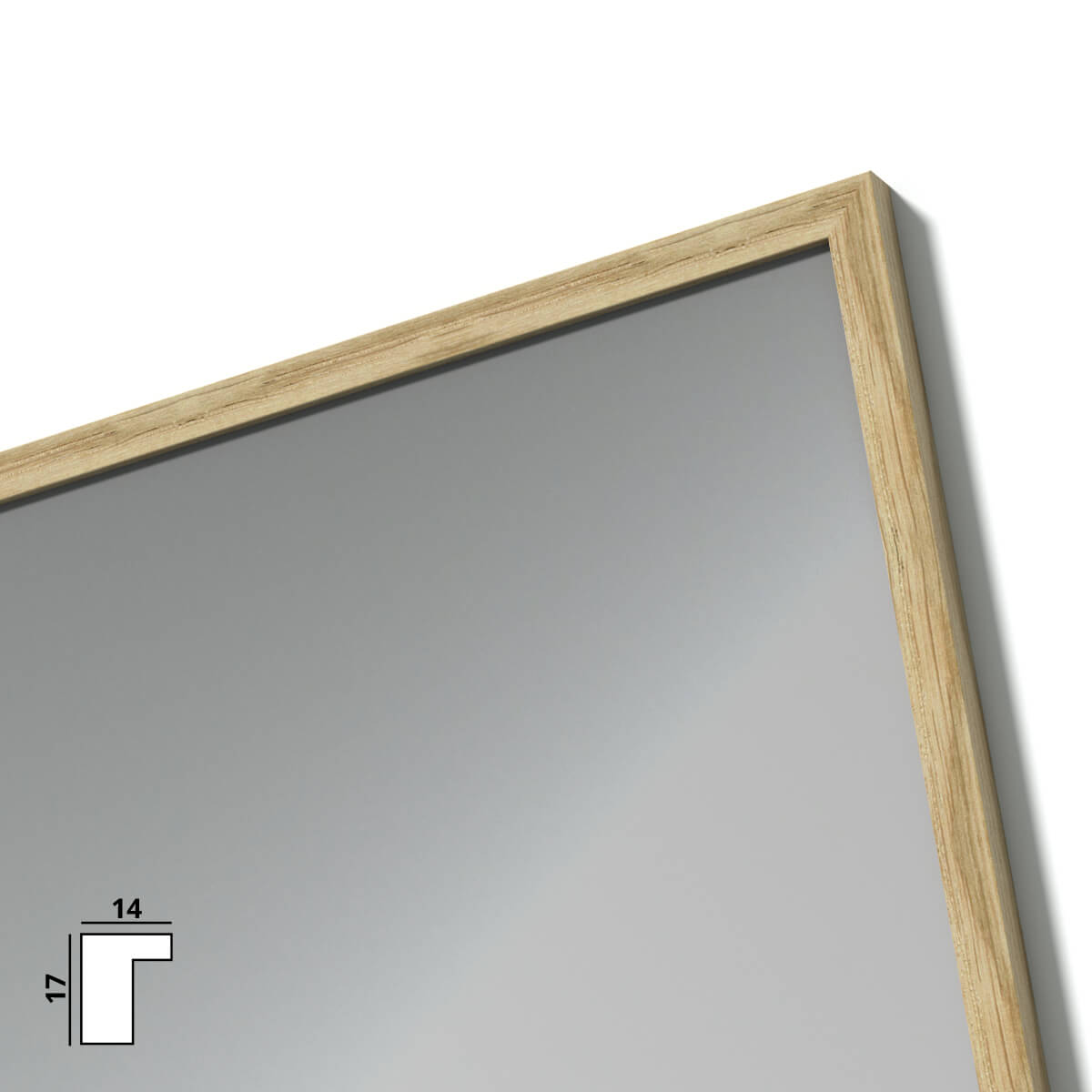 spiegel mit holzrahmen nach ma maas 989709718. Black Bedroom Furniture Sets. Home Design Ideas