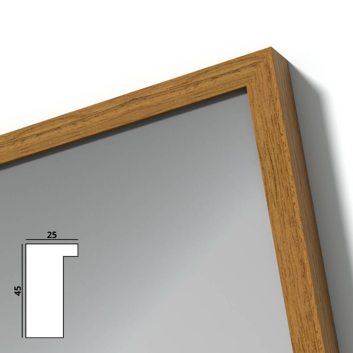 spiegel mit holzrahmen nach ma main 989709720. Black Bedroom Furniture Sets. Home Design Ideas