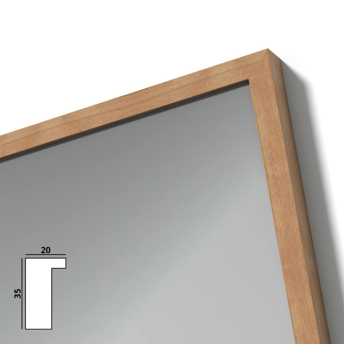 spiegel mit holzrahmen nach ma mosel 989709723. Black Bedroom Furniture Sets. Home Design Ideas