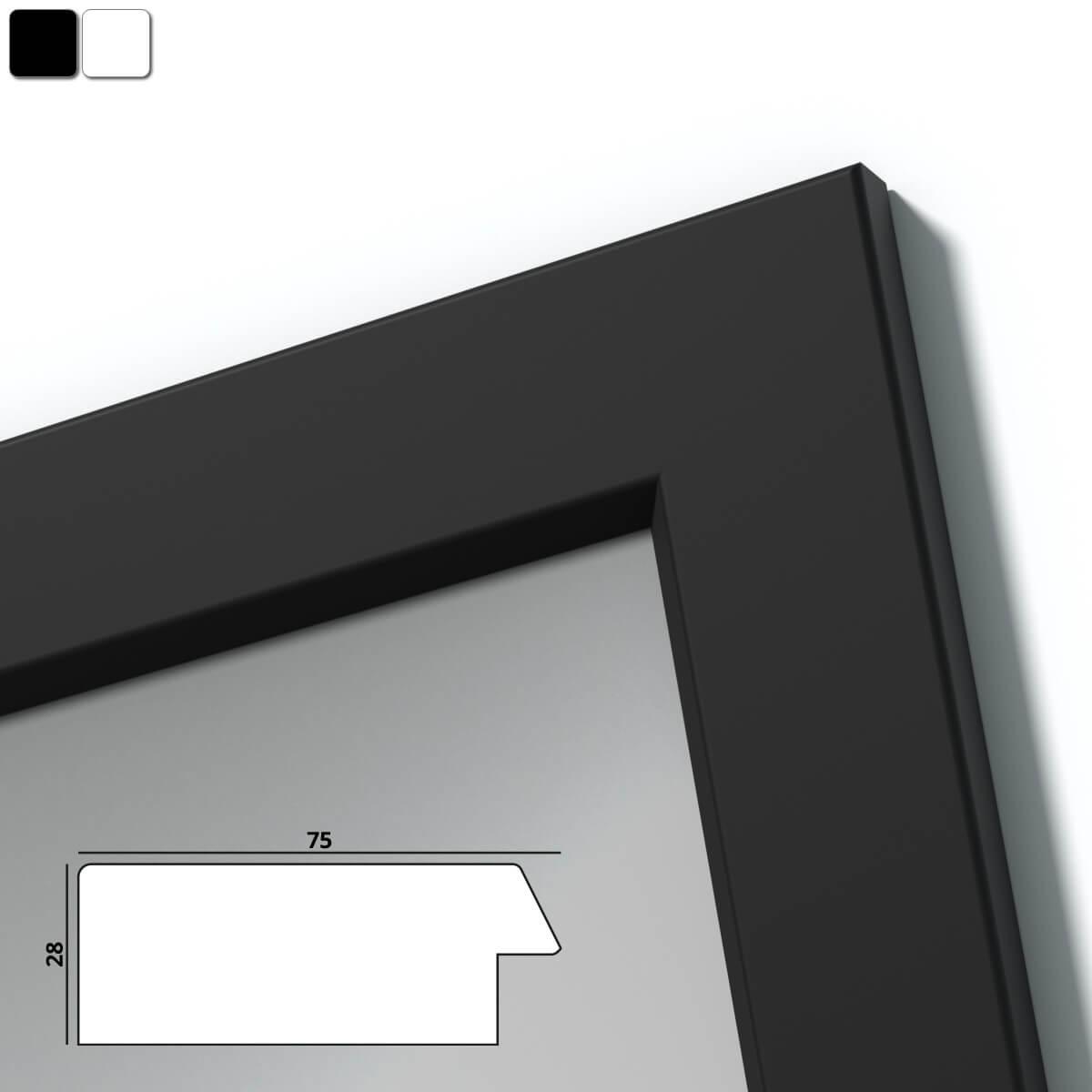 spiegel mit holzrahmen nach ma wolga 989709732. Black Bedroom Furniture Sets. Home Design Ideas
