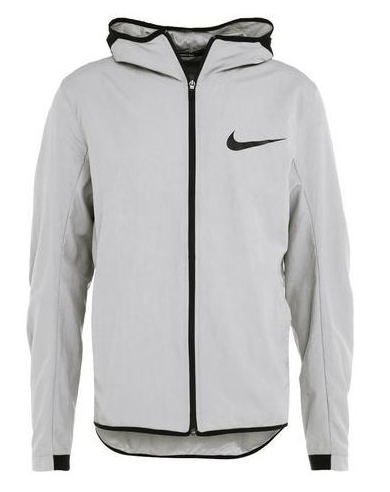 NIKE DRY DRI FIT HYPER ELITE SHOWTIME BASKETBALL JACKET GRAY