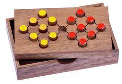 Tausche Acht - Halma - Denkspiel - Knobelspiel - Geduldspiel - Logikspiel - Brettspiel aus Holz