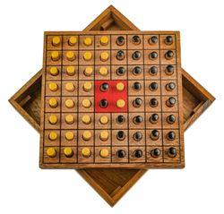 Wende den Stein - Erobere den Stein - Strategiespiel - Denkspiel - Brettspiel aus Holz