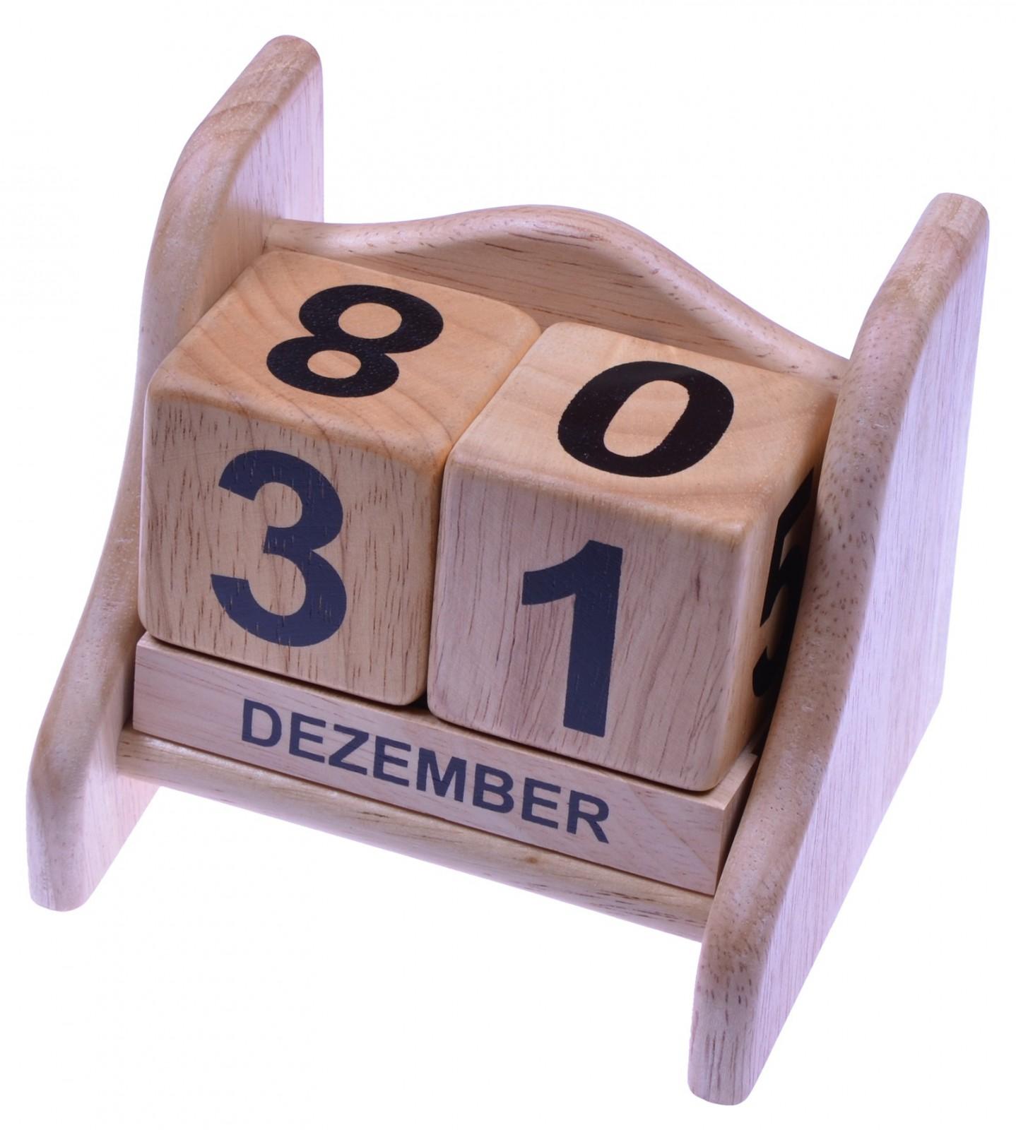 ewiger kalender dauerkalender datumsanzeige aus holz. Black Bedroom Furniture Sets. Home Design Ideas