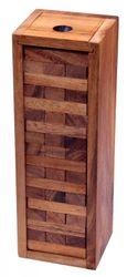 Wackel Turm Gr. S - 23 cm Höhe - Condo - Holzturm - Geschicklichkeitsspiel - Gesellschaftsspiel aus Holz