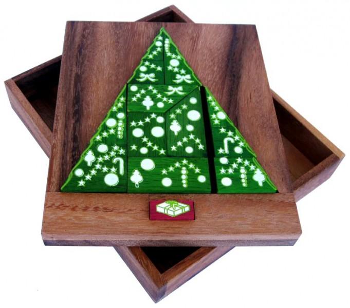 Weihnachtsbaum Spiele.Der Weihnachtsbaum Holzpuzzle Denkspiel Knobelspiel