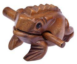 Klangfrosch  Gr. 5 - Klang Frosch - Klangtier - Musik Frosch - Musik-/Percussion-Instrument aus Holz