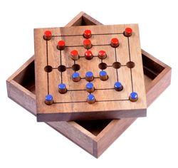 Mühle Gr. S - Strategy - Strategiespiel - Denkspiel - Brettspiel aus Holz