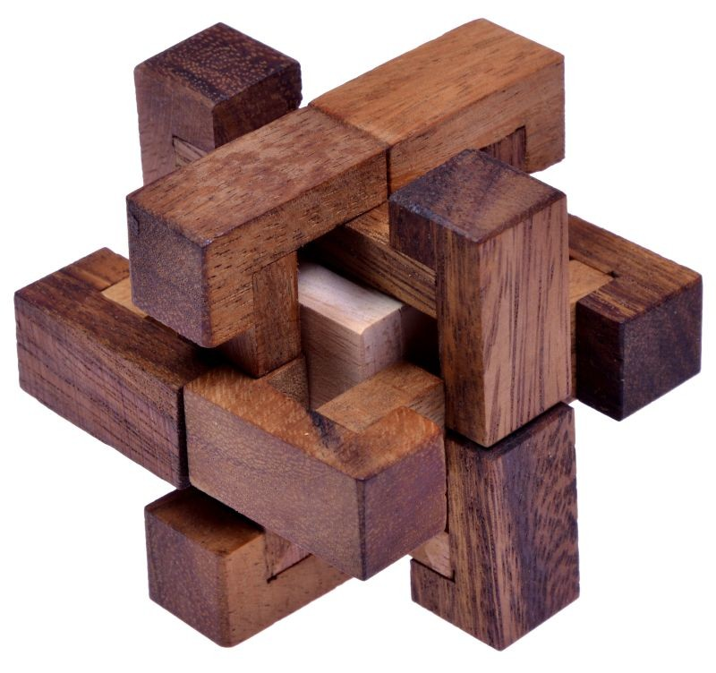 trap 3d puzzle denkspiel knobelspiel geduldspiel logikspiel aus holz spiele f r 1 spieler. Black Bedroom Furniture Sets. Home Design Ideas