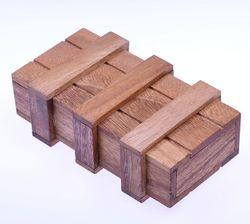 Schatztruhe mit 2 Geheimfächern - Schatzkiste - Zauberkiste - Trickkiste - Denkspiel - Knobelspiel - Geduldspiel - Logikspiel aus Holz