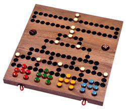 Blockade - Würfelspiel - Strategiespiel - Gesellschaftsspiel - Brettspiel aus Holz mit zusammenklappbarem Spielbrett - 2. Wahl mit kleinen optischen Mängeln