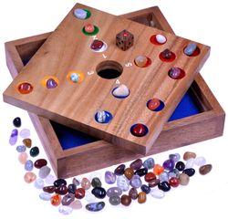 Big Hole - Pig Hole - Würfelspiel - Gesellschaftsspiel - Brettspiel aus Holz mit Edelsteinen - 2. Wahl mit optischen Mängeln
