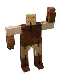 Robot Puzzle - 3D Puzzle - Denkspiel - Knobelspiel - Geduldspiel - Logikspiel aus Holz mit mehreren Spielvarianten